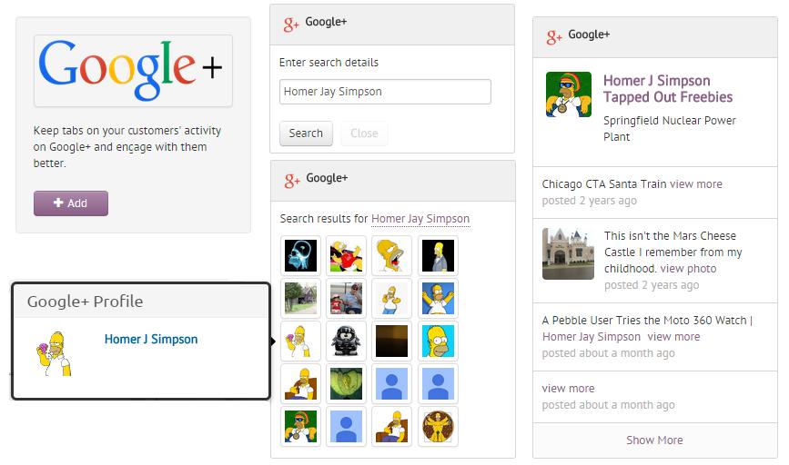 Google Plus Integration in Agile CRM