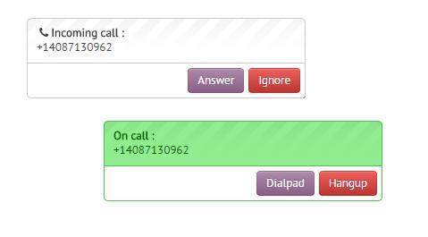 Answer inbound calls