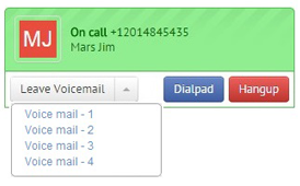 Saved Voicemails in Agile CRM