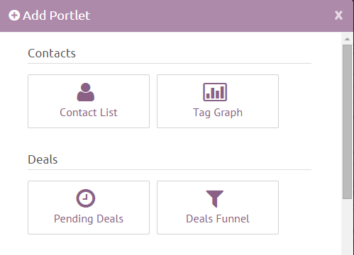 Add New Portlets