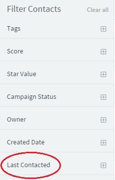Contact Filters in the CRM Dashboard
