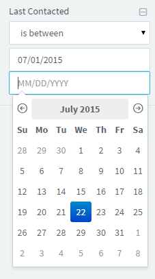 Filter Contacts by Last Contacted Date Set Between Two Dates