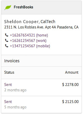 FreshBooks Billing Integration for Contact Invoices