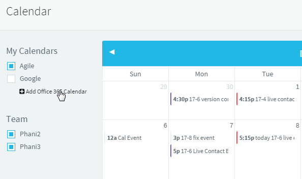 Choose Which Calendars to Display in Agile CRM