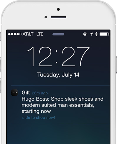 Personalized Sales with Mobile Marketing at Gilt.com