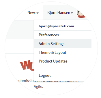 1. Login to the Agile CRM account. Goto Admin settings- Integrations