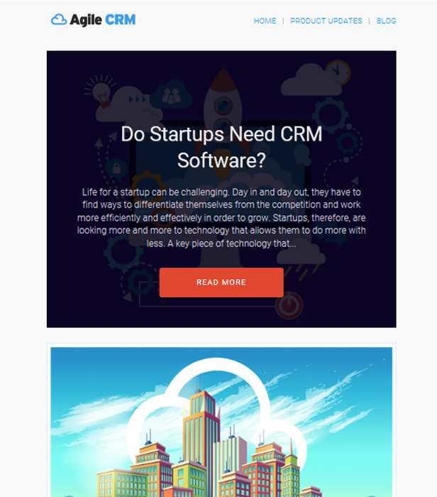 Agile CRM free Newsletter Template