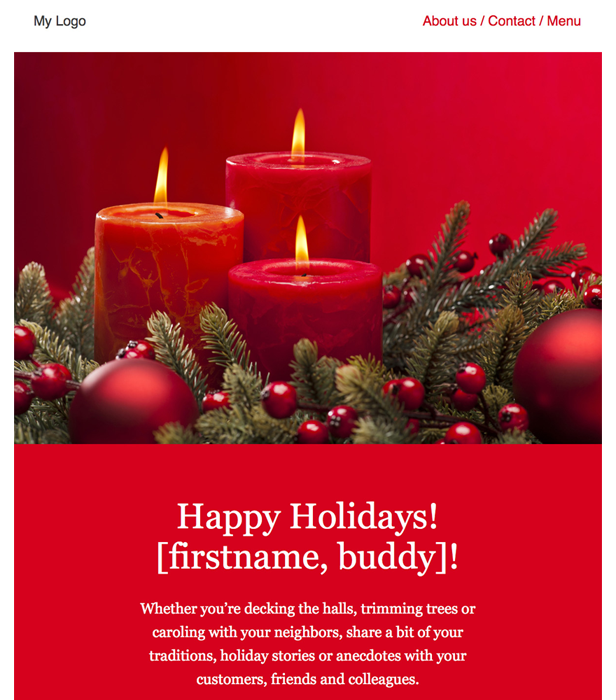 Christmas free newsletter template