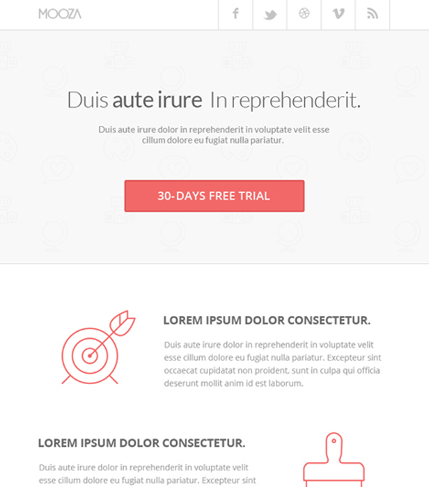 Mooza free newsletter template