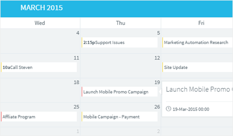 Calendar and Events CRM
