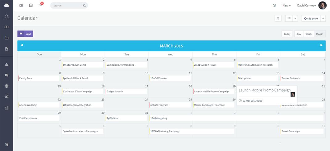 Online calendar crm