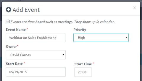 calendar set priority