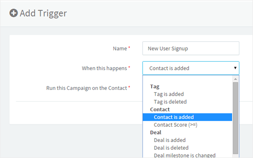 Define Triggers to Start Campaigns