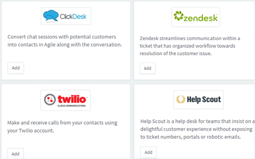 Helpdesk integration