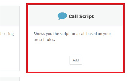 Call Center Software: Call Scripts