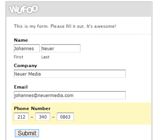Create Contact through Wufoo