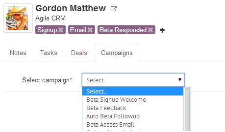 Add Contact to a Campaign