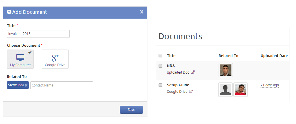 Google Drive integratio for Agile CRM