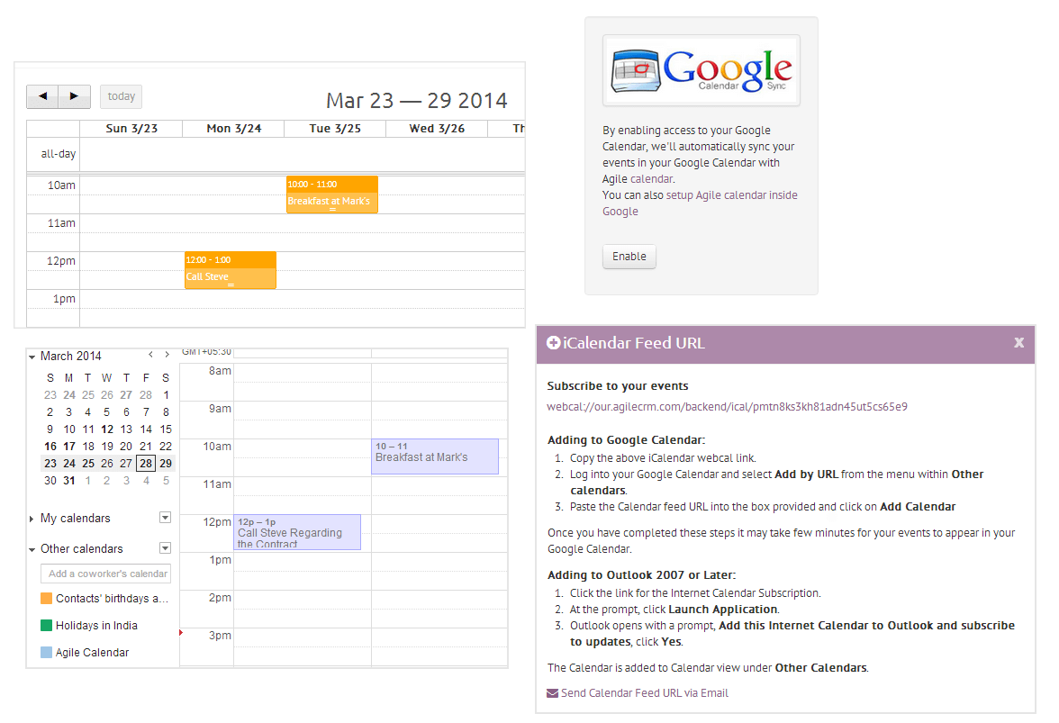Google Calendar Sync for Agile CRM