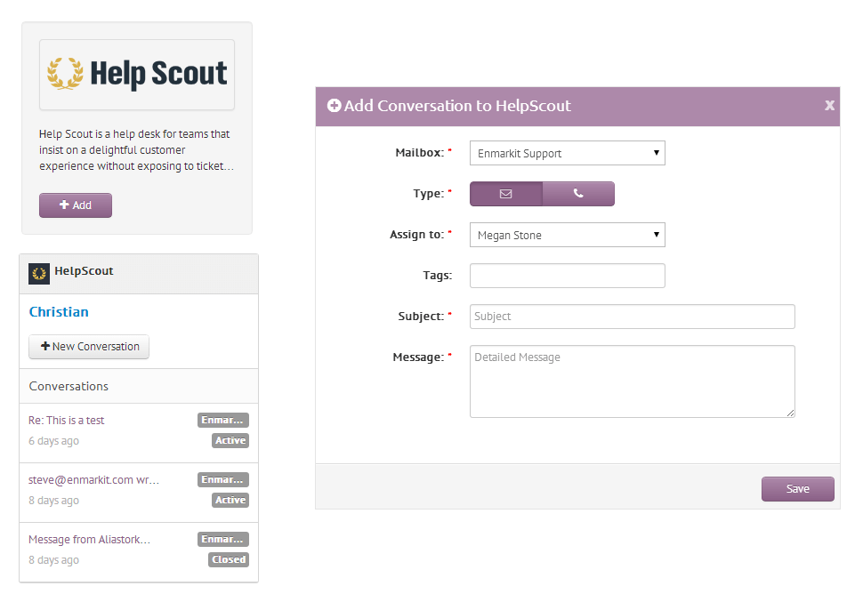 Help Scout for CRM