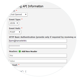 Step 2. Add API Key to LiveHelpNow Account