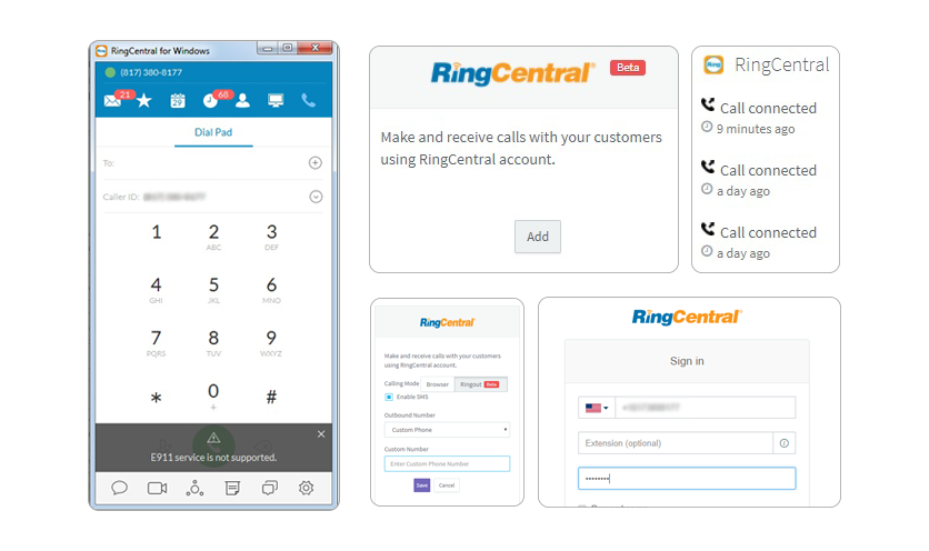RingCentral Integrations for CRM