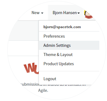 Go to Integrations in Admin Settings