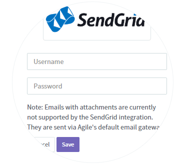Enter SendGrid Credentials