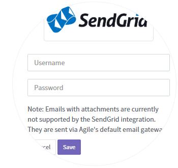Enter SendGrid Credentials