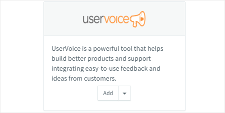 uservoice Setup, Step-1