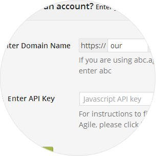 Provide Username and API key at Agile