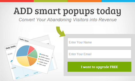 Web engage with smart popups