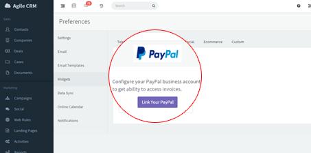 Paypall  Widget